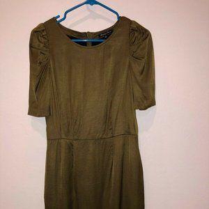 Madewell Broadway & Broome green Dress Puff Slv 4